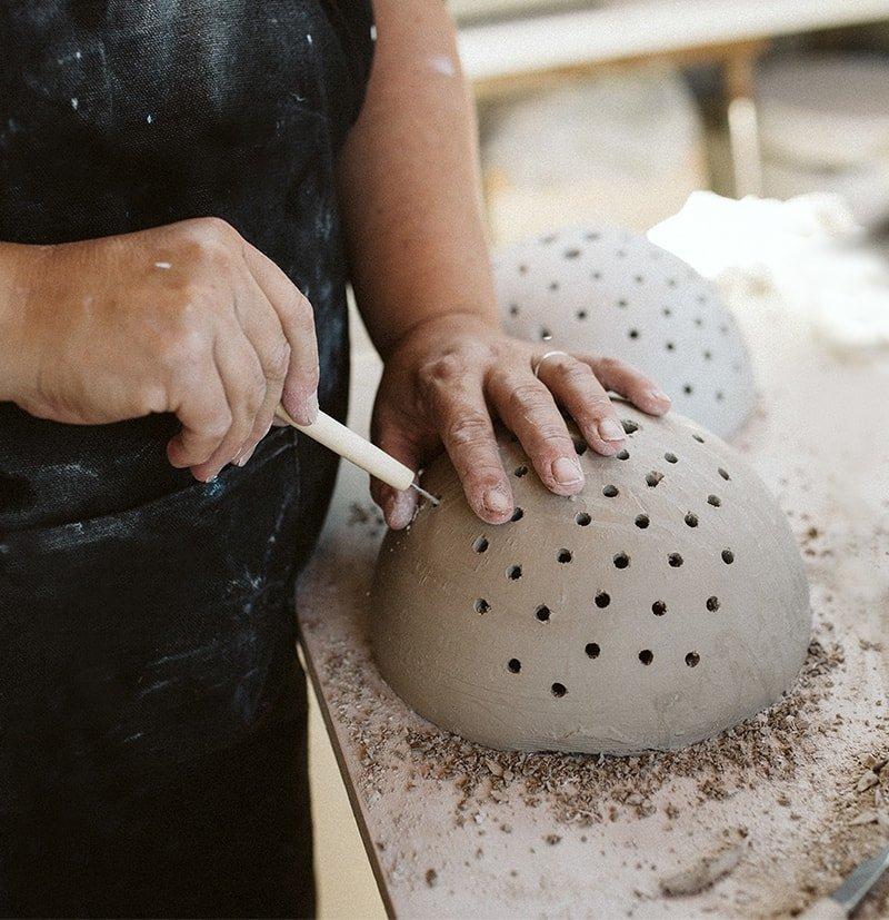 Proceso de trabajo Woodic cerámica