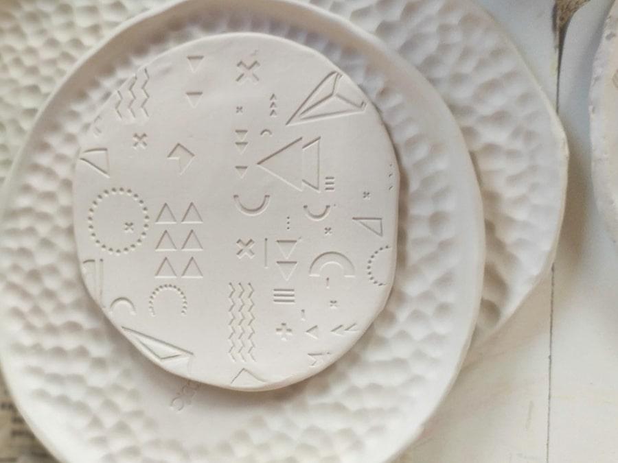 taller cerámica estampados